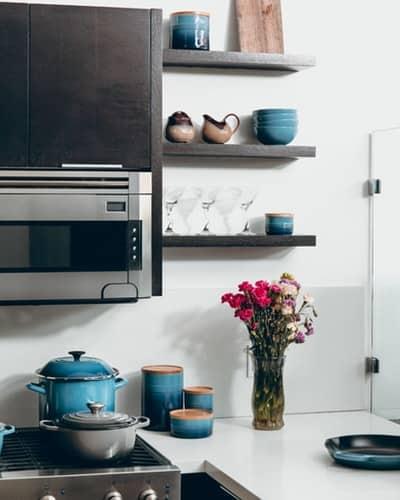 cucina in blu