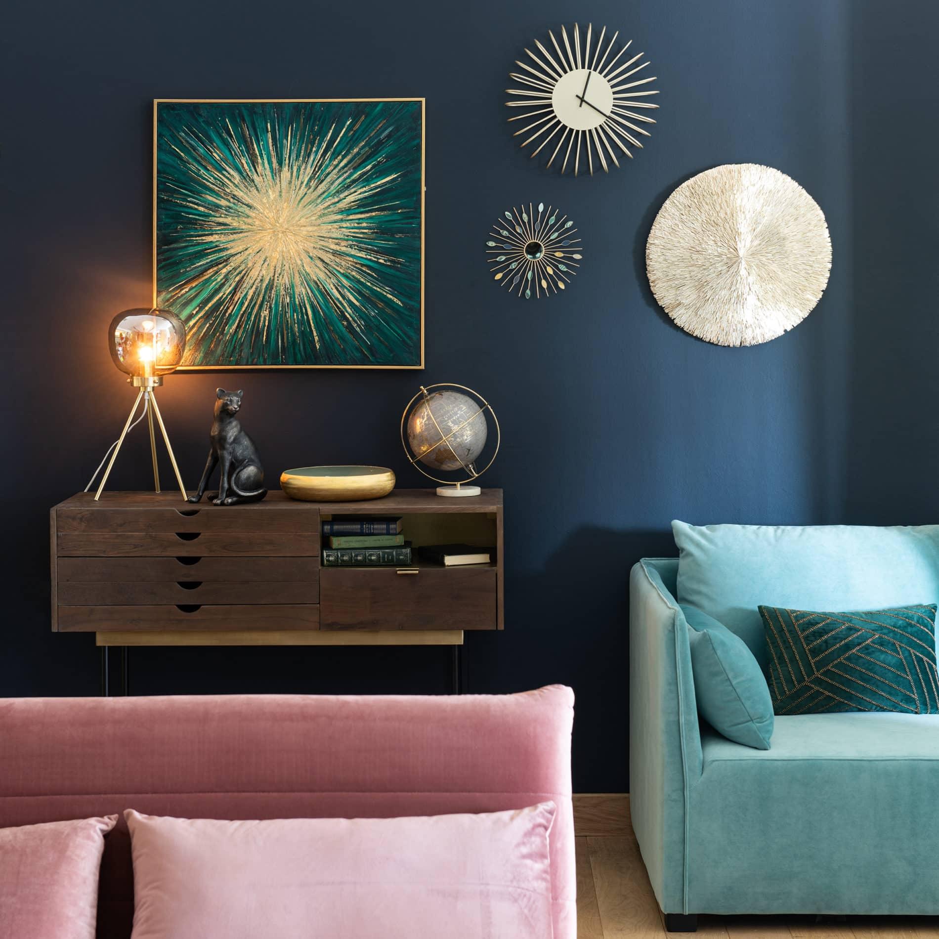 Cucina Soggiorno Stretta E Lunga soggiorno in blu: 10 idee - glamcasamagazine