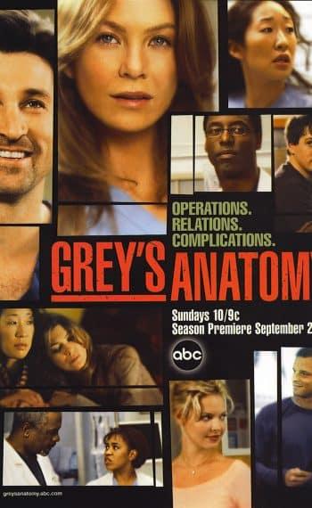 Il poster della seconda stagione di Grey's Anatomy