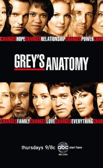 Il poster della quarta stagione di Grey's Anatomy