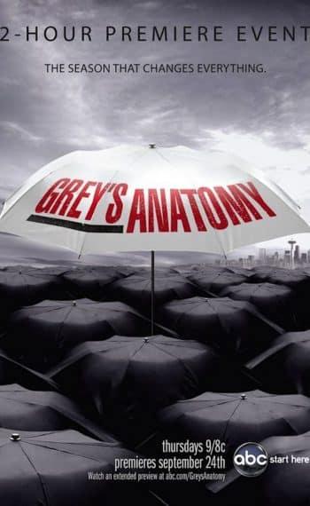 Il poster della sesta stagione di Grey's Anatomy