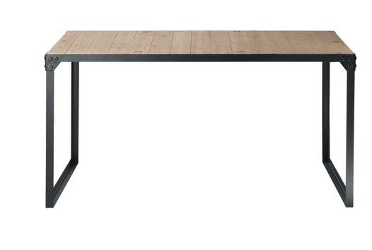 Set di 3 tavolini Alti con Motivo a Foglie Verdi Struttura in Metallo Nero The Look