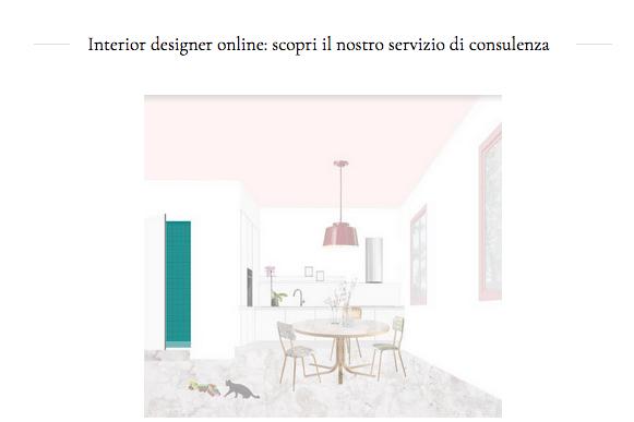 consulenza interior designer