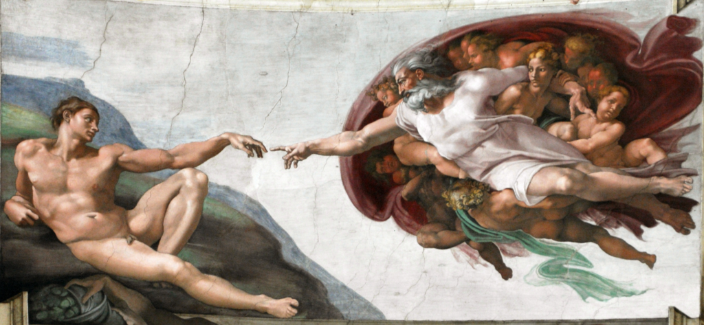 La Creazione di Adamo di Michelangelo