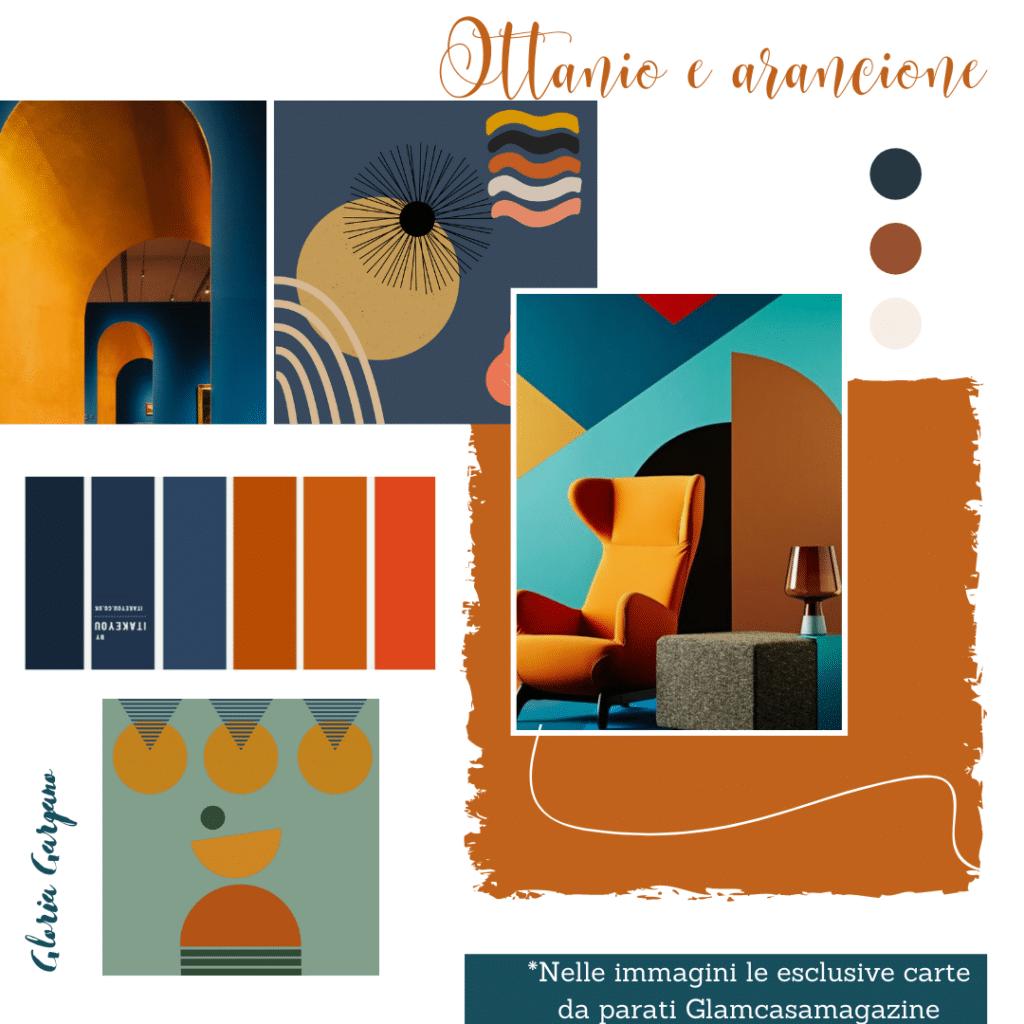 Color ottanio e arancione