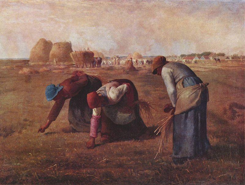 Jean-François Millet, Le spigolatrici, 1857 Parigi, Museo d'Orsay, Scuola di Barbizon