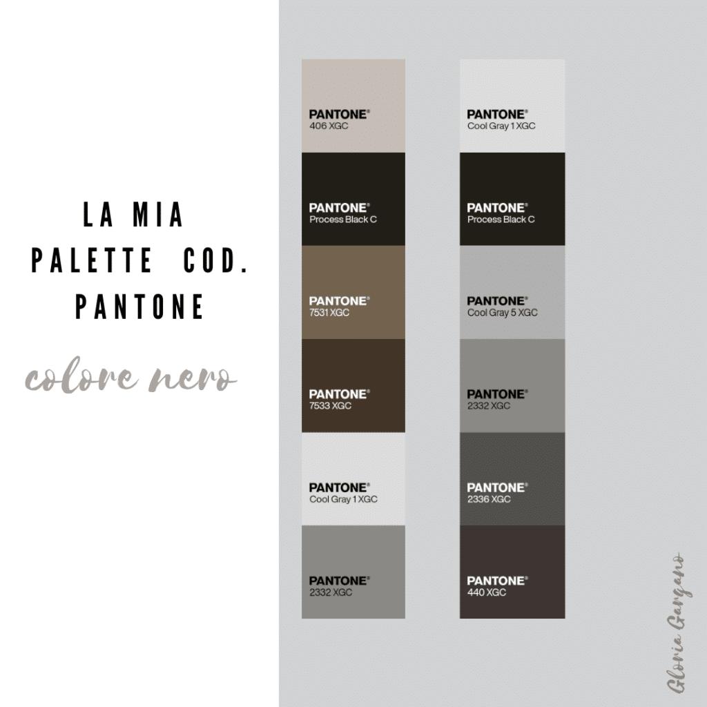Palette colori per pareti nere