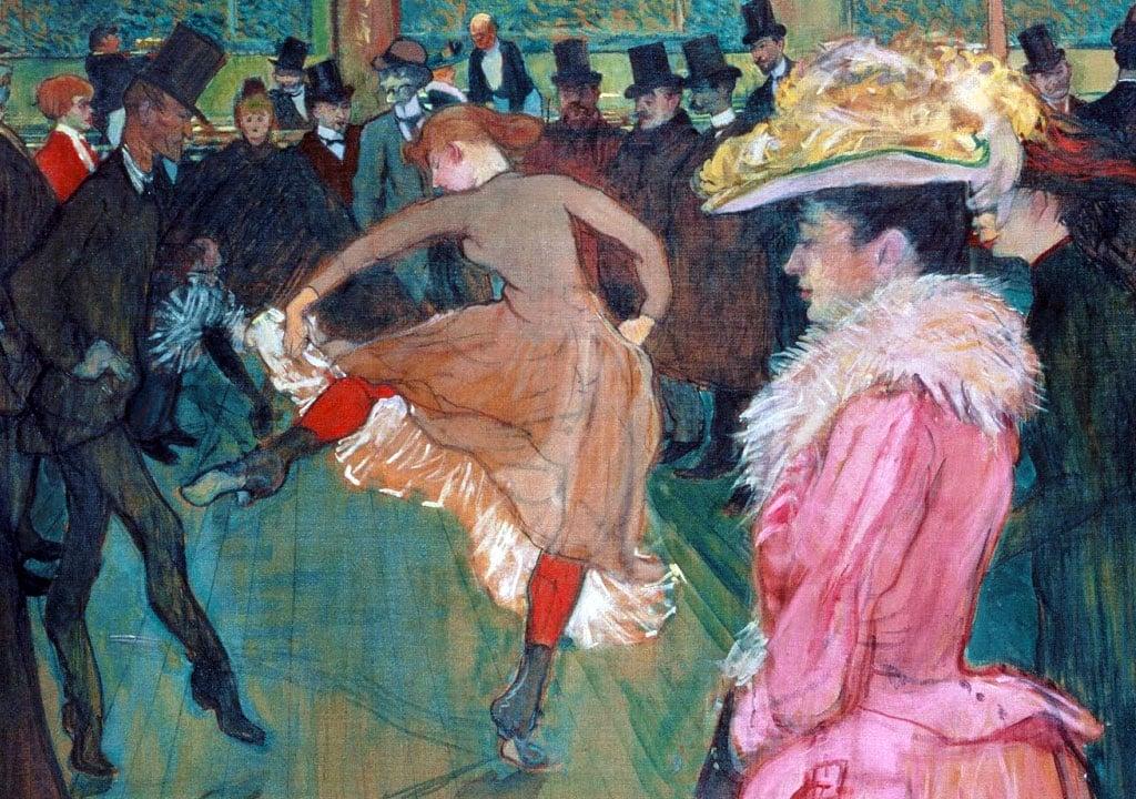 Ballo al Moulin Rouge - dettaglio centrale del dipinto