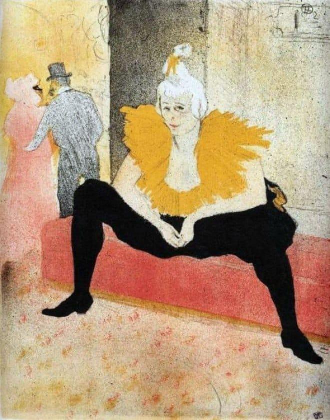 Donna pagliaccio seduta, 1896