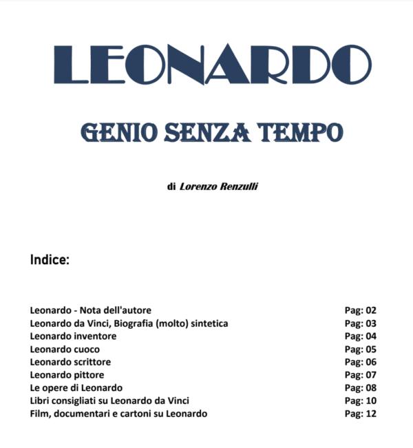 riassunto completo su Leonardo