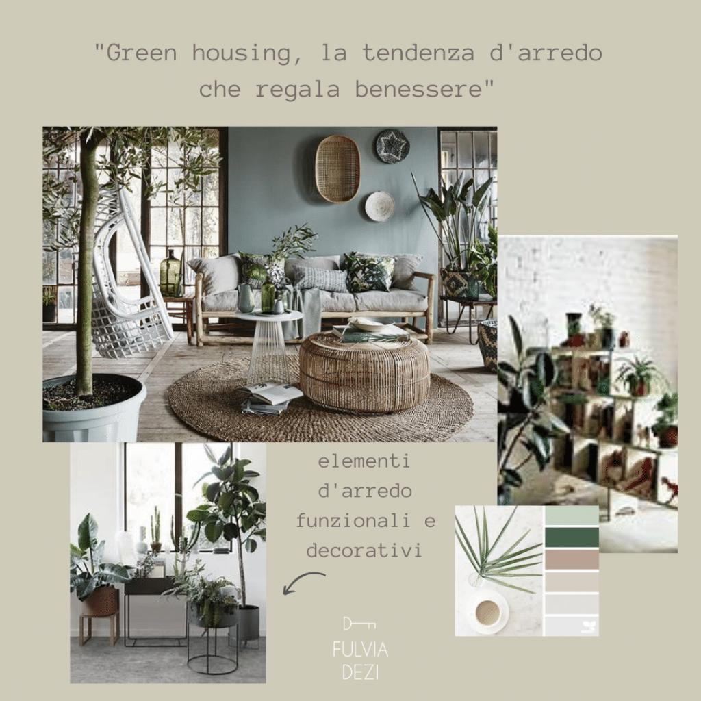 Utilizzare il verde per un soggiorno piccolo