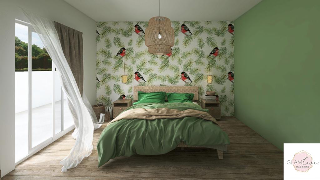 Carta da parati di design per la camera da letto