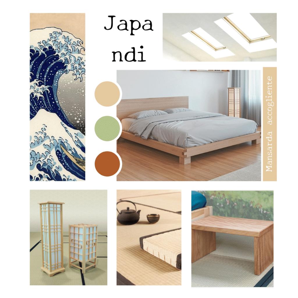 Moodboard - camera da letto in mansarda