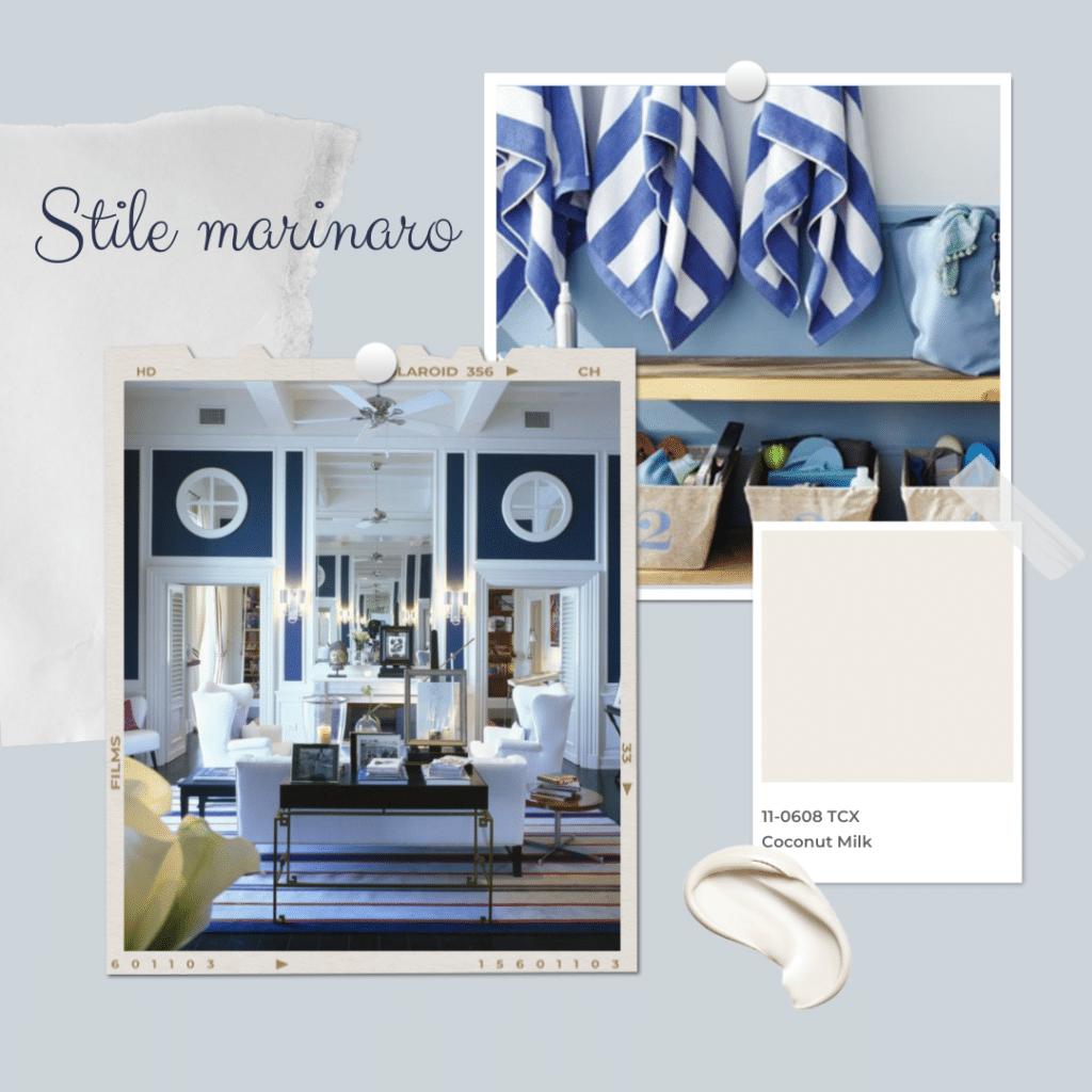 pareti blu per stile marinaro