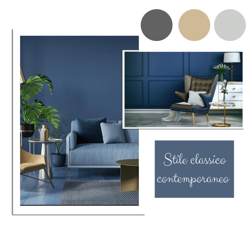 pareti blu per stile contemporaneo