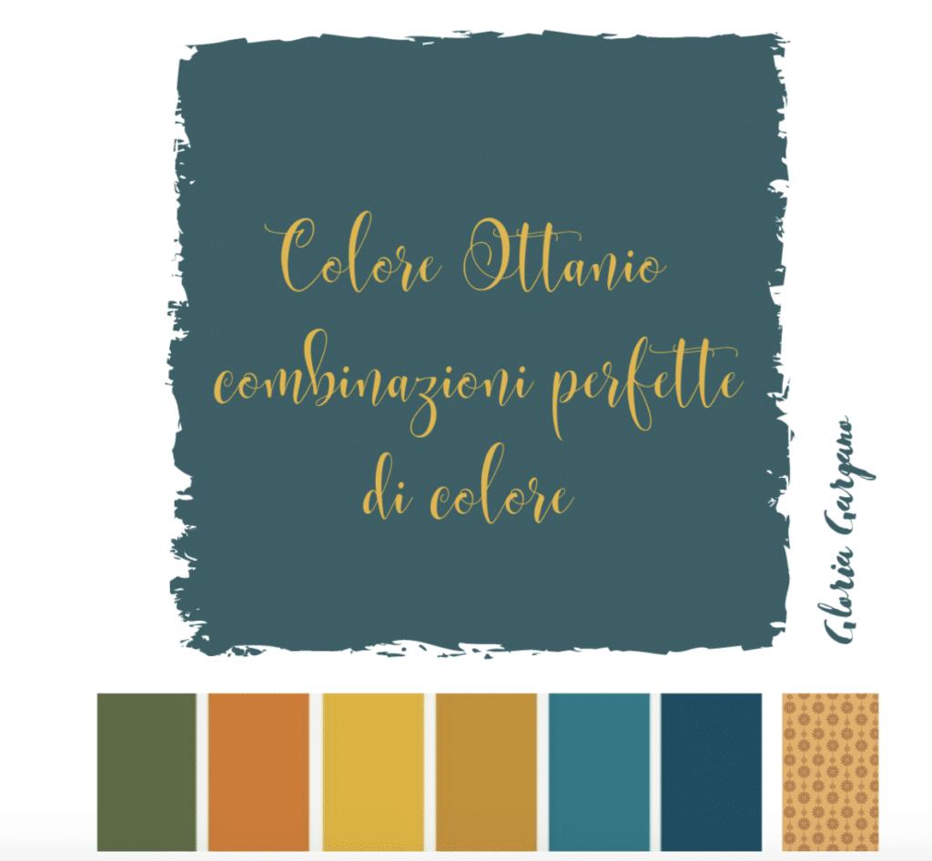 combinazioni per pareti di colore ottanio